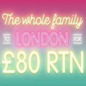 East Midlands Trains Family Tickets in summer. £80 Return to/from London for whole family & travel anytime!