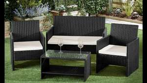 St Barts Four-Piece Rattan-Effect Garden Lounge Set with Optional Covers £152.99 delivered @ Groupon