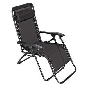 Argos Home Metal Set of 2 Sun Lounger Chairs - Black for £36.49