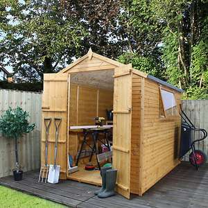 8x6 Apex roof Shiplap+ Wooden Shed £50 @ B&Q