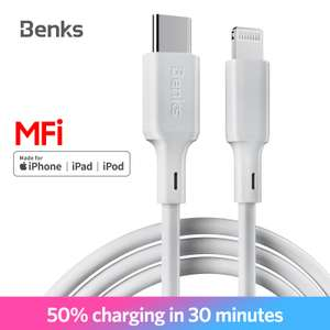 50% + £1.60 off [MFI] USB c to Lightning cable for fast charge. Found on Aliexpress £14.36