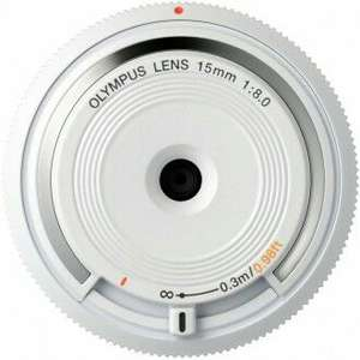 Olympus M.Zuiko Digital 15mm F8 Body Cap Lens - White - £31.99 at SRS Microsystems