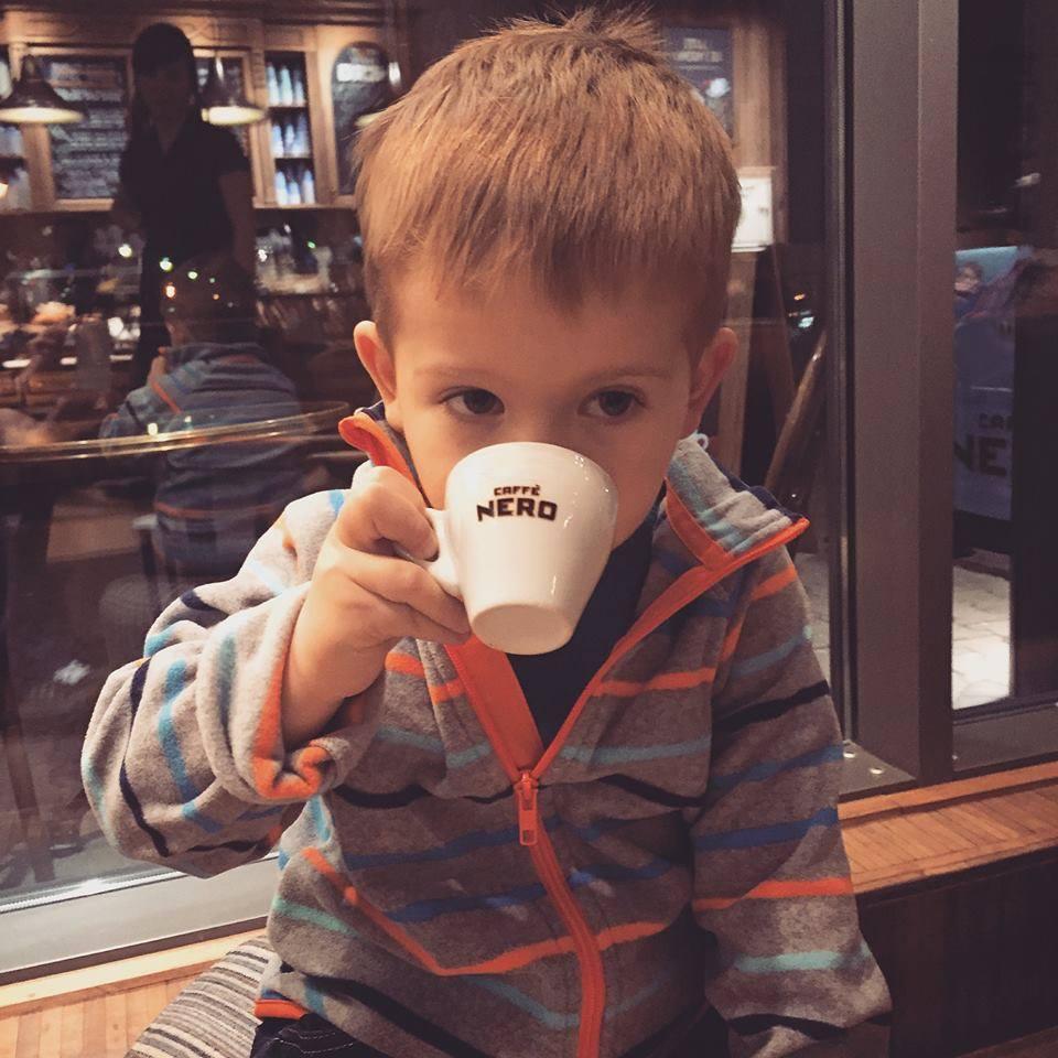 Free babyccino for children at Caffe Nero