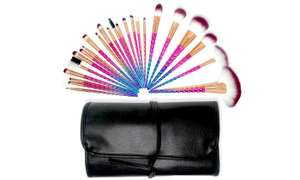 One or Two Quest 24-Piece Make-Up Brush Sets with Roll Case at Groupon £5.57 Delivered