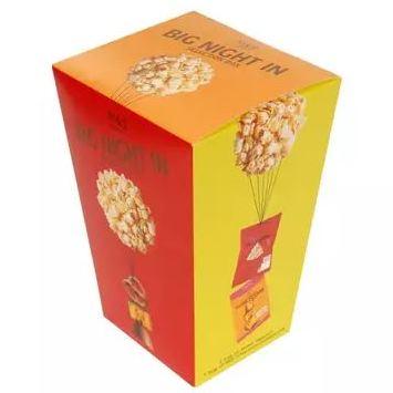 M&S Big Night In  Selection Box - Sweet Popcorn & three chocolate snacks - £2.50
