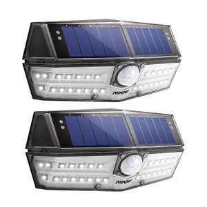 30 LED Solar Lights, A New Generation of Motion Sensor Outdoor Lights - £13.99 Sold by MPOW Direct-sale and Fulfilled by Amazon