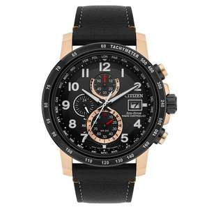Citizen Eco-Drive Global Radio Controlled AT Chronograph Perpetual Sapphire Gents Watch £195 at E.Jones
