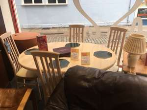 Extendable table with 4 chairs @ BHF in-store (Colchester)