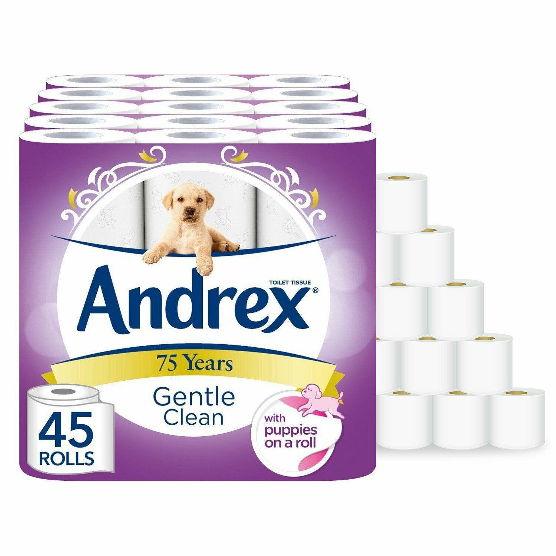 45 Andrex toilet roll - £15.01 @ eBay / avantgardebrands
