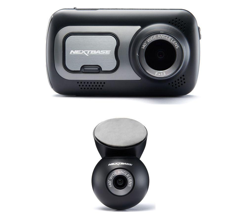 NEXTBASE522GW Quad HD Dash Cam with Amazon Alexa & NBDVRS2RWC Quad HD Rear View Dash Cam Bundle - £144 @ Currys