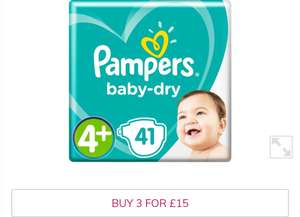 Pampers Nappies - 3 Packs for £15 at Morrisons