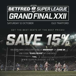 15% off Rugby League Grand Final Tickets at Old Trafford