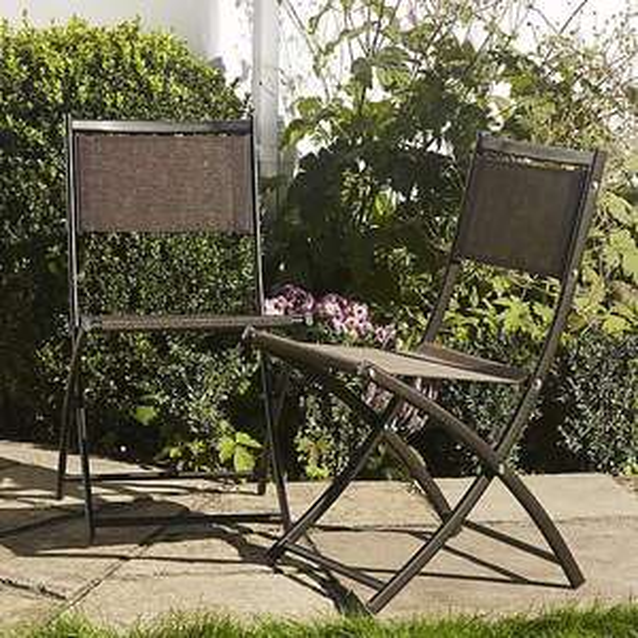 Set of 2 Bronze Textolene Folding Chairs £12.50 @ Dunelm