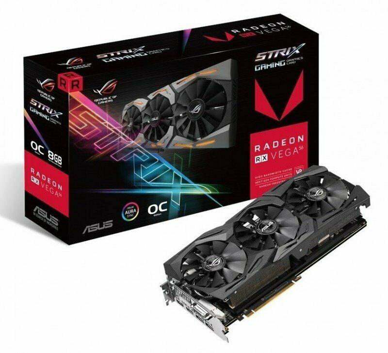 Asus ROG STRIX RX VEGA 56 8GB OC HBM2 Graphics Card £230.76 at Ebuyer/ebay-with code(3 free games)