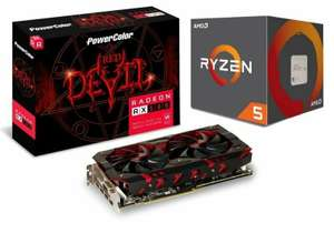 PowerColor AMD RX 580 8GB Graphics Card with AMD Ryzen 5 2600X Processor Bundle £272.82 at Ebuyer/ebay -with code