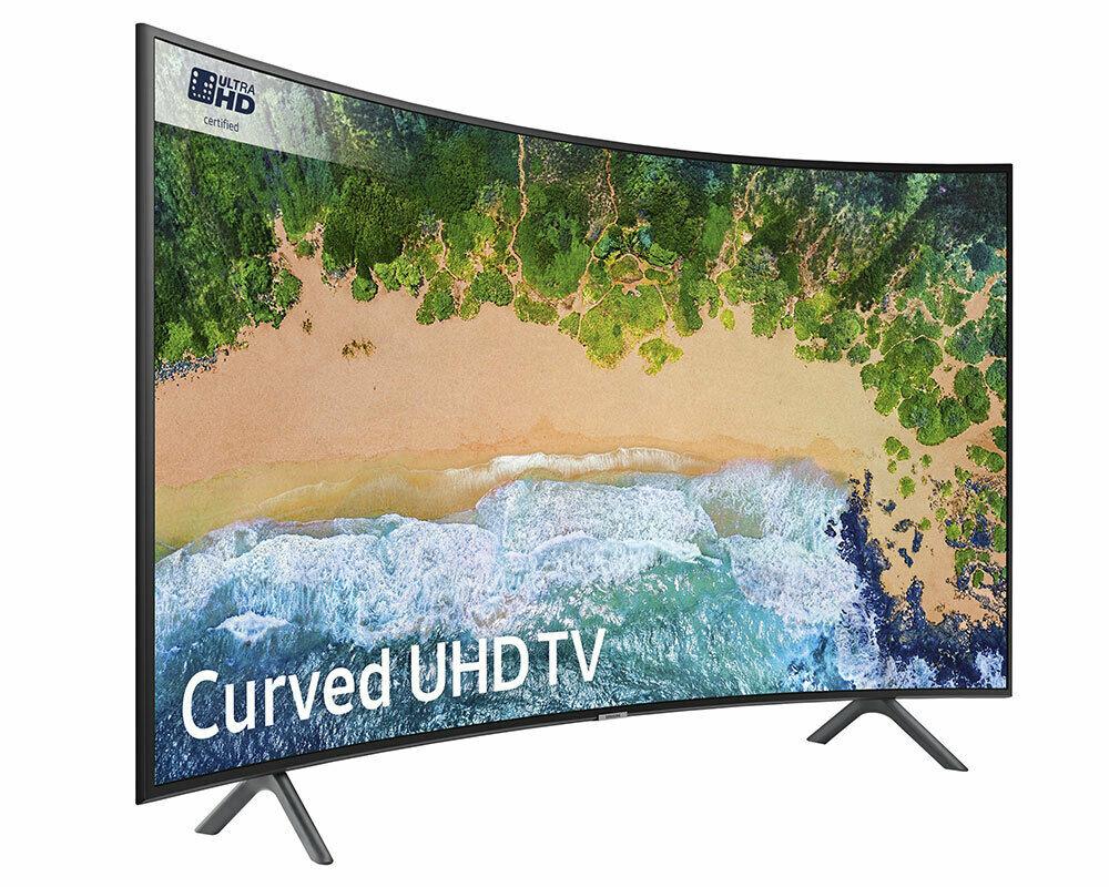 """Samsung UE55NU7300 55"""" Curved Ultra HD certified HDR10+ Smart 4K TV for £374 delivered @ Crampton & Moore eBay"""