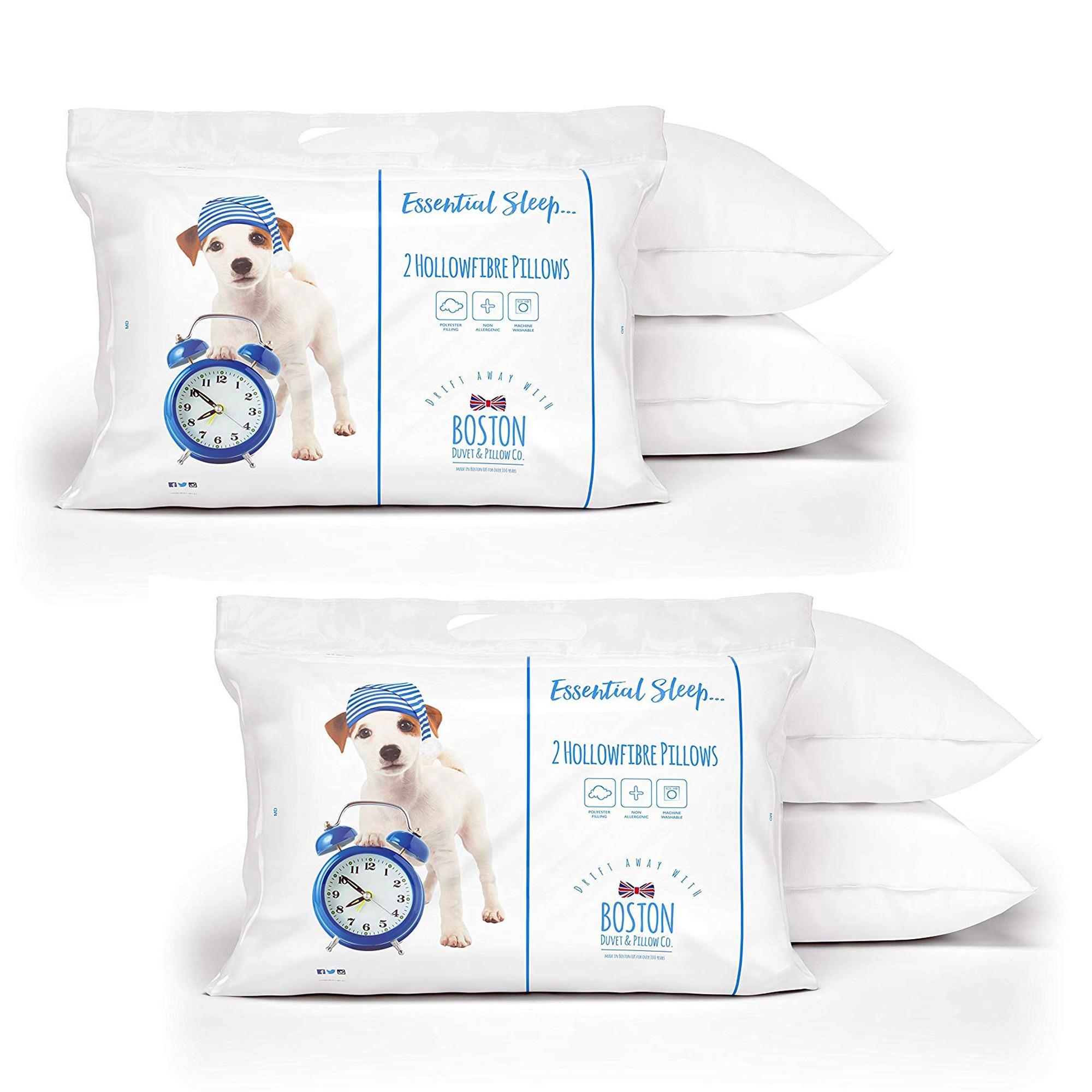 Boston Essential Sleep Microfibre Pillow Pair - Buy 1 Get 1 Free - £7.99 delivered for 4 Pillows @ Sleepseeker