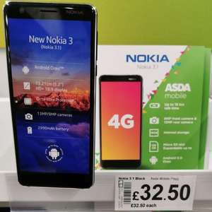 Nokia 3.1 - £32.50 - Asda instore