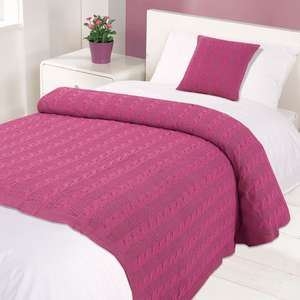 Cable Knit 100% Cotton Throw in 4 colours £4.99 @ OnlineHomeShop - Delivery £1.99 / Free over £30