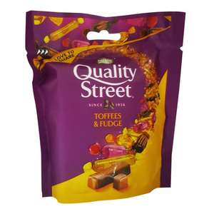 Quality Street 93G Toffee & Fudge Pouch, Now 29p @ Poundstretcher
