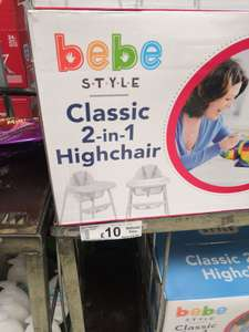 Bebe style 2 in 1 highchair - £10 @ Asda Woodchurch / wirral