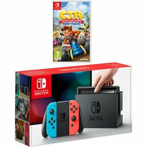Nintendo Nintendo Switch Neon + Crash Team Racing Nitro Fuelled 32GB - £239.99 at AO eBay
