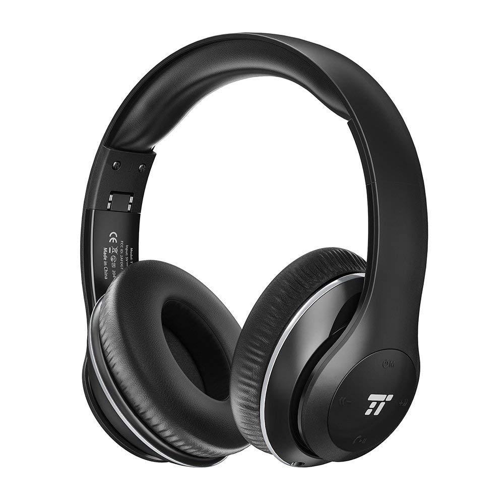 TaoTronics Wireless Headset w/ Light Memory Foam Ear Pads & Dual 40mm Drivers £15.99 prime / £ 19.98 non prime @ Amazon / Sunvalleytek-UK