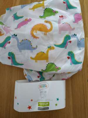 Asda George Fitted Sheet for a Toddler Bed - 40p
