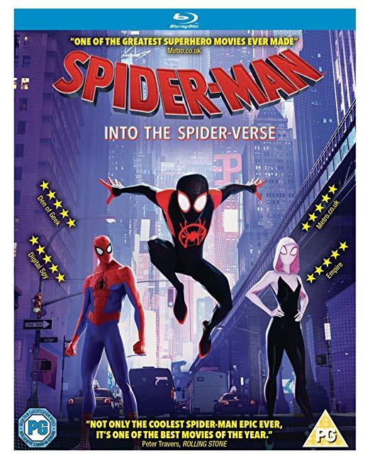 Spider-Man into the Spider-Verse Blu-Ray £9.99 (DVD £6.99) @ Amazon (+£2.99 P&P non-Prime)