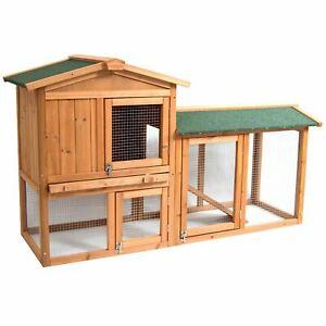 Rabbit / Guinea Pig Hutch Wooden 2 Tier Cage  with Run / Pen £60 @ ebay Homediscountltd