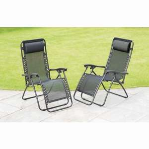 Zero Gravity Relaxer Chairs 2pk £50 instore and online @ B&M