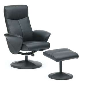 PU Faux Leather Swivel Gaming Office Computer Lounge Recliner Chair With Footstool (3 Colours) +2 Year Warranty £55.20 @ eBay Livewell