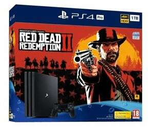 Sony 1TB Black PS4 Pro with Red Dead Redemption 2 - £289.84 with code @ Ebuyer / eBay