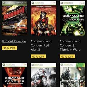Burnout revenge and other Xbox 360 backwards compatible deals with gold