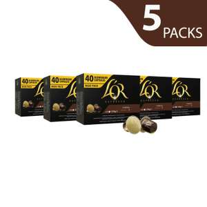 L'or Espresso  coffee pods (200) 5 Packs of 40 Capsules (200 Drinks)  £33.59 Amazon  sold by Luzern.