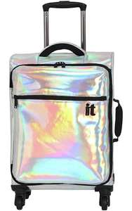 IT Luggage 4 Wheel Holographic Cabin 34L Suitcase now £26.99 @ Argos