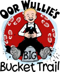 Oor Willie's Big Bucket Trail treasure hunt app across Scotland - free on Google Play
