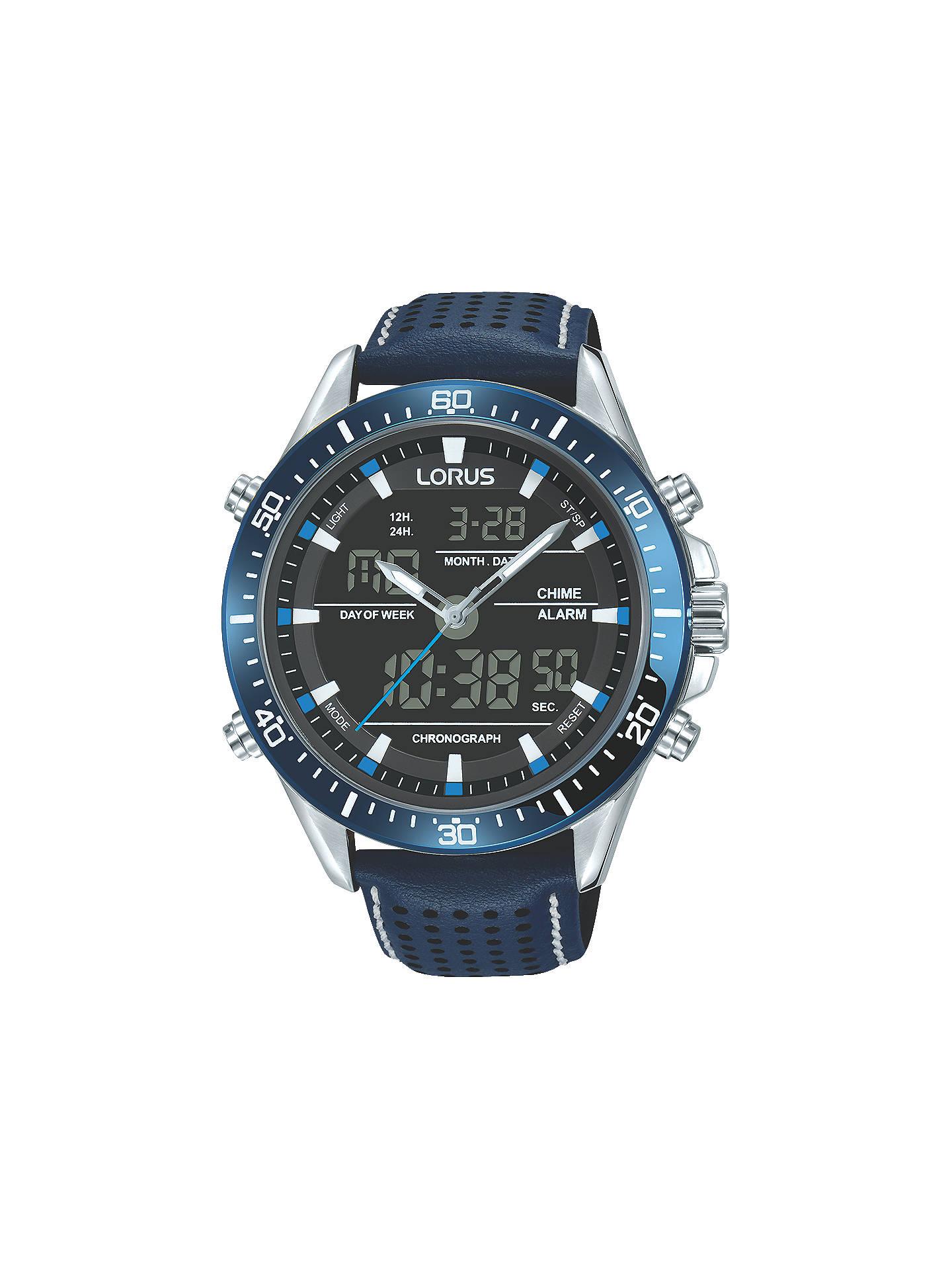 Lorus RW643AX9 Men's Analogue/Digital Chronograph Sports Leather Strap Watch - £45 + del @ John Lewis