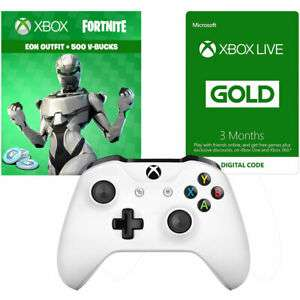 Official Xbox Wireless Controller with Fortnite Eon Cosmetic Set, 500 V-bucks and 3 Months Xbox Live Gold membership (Xbox One)