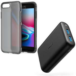 Anker PowerCore Redux Compact 15000 mAh Power Bank with PowerIQ / Voltageboost  + Free iPhone 8/7 Plus Case Sold by AnkerDirect and FBA