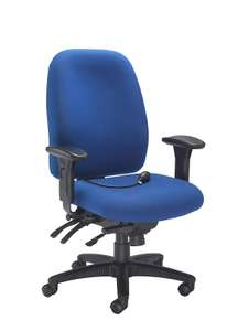 Office Hippo 24-Hour Desk Chair with Seat Slide Arms Adjustable Lumbar Support Fabric Royal Blue - £132.99 @ Amazon