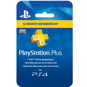 PlayStation Plus 12 Month Membership for £26.97 @ Currys