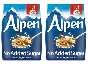 Alpen No Added Sugar Swiss Style Muesli - 1.1kg x 2 packs for £3.99 @ Costco (from 08/07)