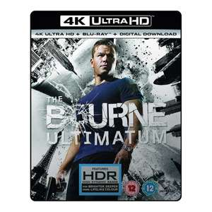The Bourne Ultimatum 4K UHD Blu-ray for £8.99 Delivered with Code @ 365games