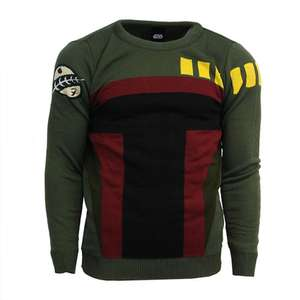 OFFICIAL STAR WARS Boba Fett Sweater (Small & Medium) just £4.99 delivered from Geekstore!