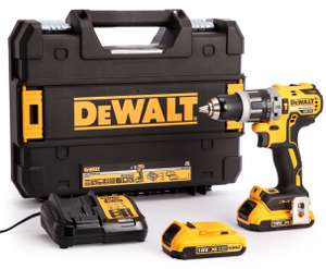 DeWalt DCD796D2-GB 18V Xr Li-ion Cordless Brushless Combi Drill 2 x 2.0AH Batteries, Charger & TSTAK Case £138 @ Travis Perkins