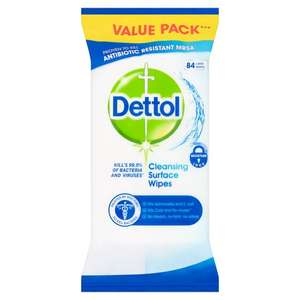 Dettol Surface Cleanser Antibacterial Wipes (84 pcs) £1 @ Tesco