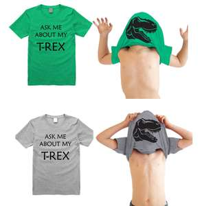 Ask me about my T-Rex T-Shirt £4.50 (£6.49 delivered) at Groupon