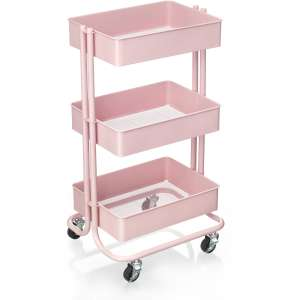 Three Tier Trolley in Blush Pink, Grey, Vanilla & Rose Gold at Hobbycraft £25 delivered!