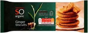 Sainsbury's So Organic Ginger Biscuits 20p instore